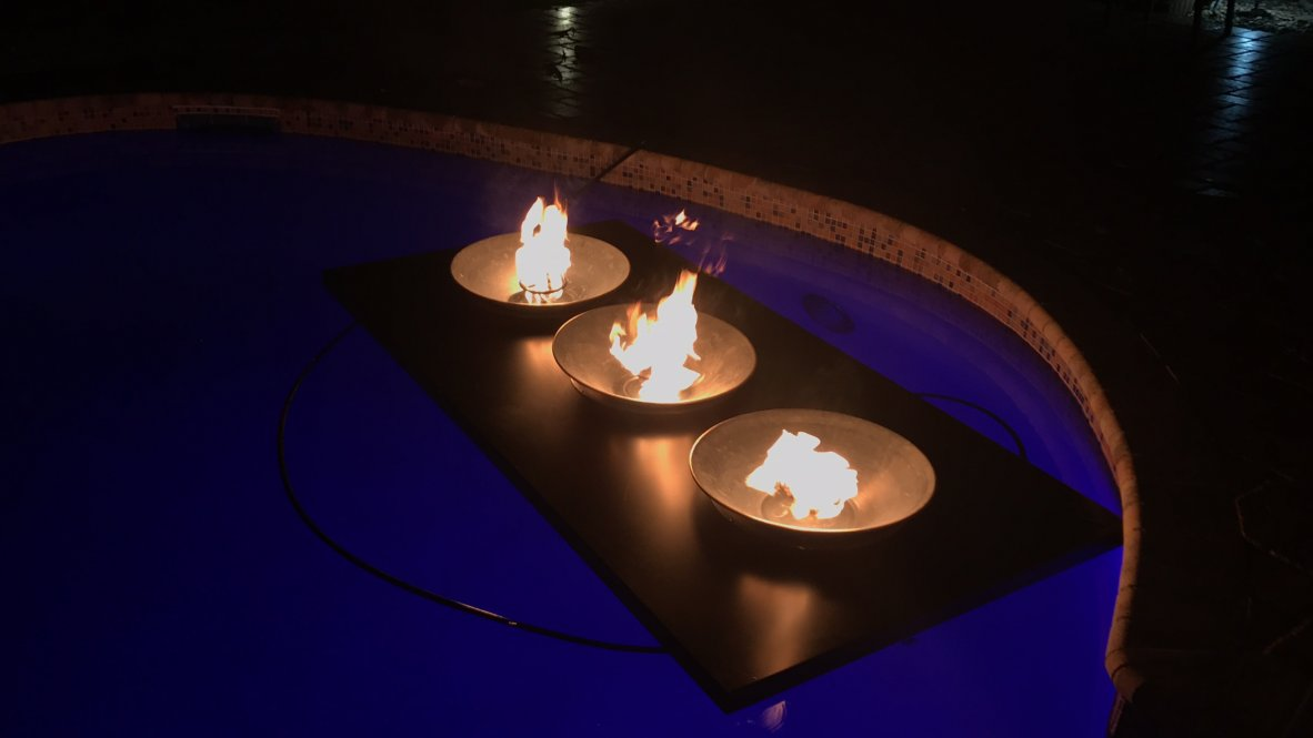 Floating Fire Pit - Floating Fire Pit Rental - Available At Light F/X Pro's